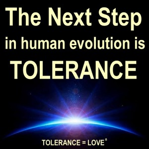 The next step in human evolution is tolerance love nth degree
