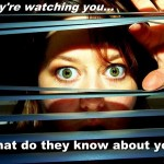 They are watching you What do they know about you Lack of privacy