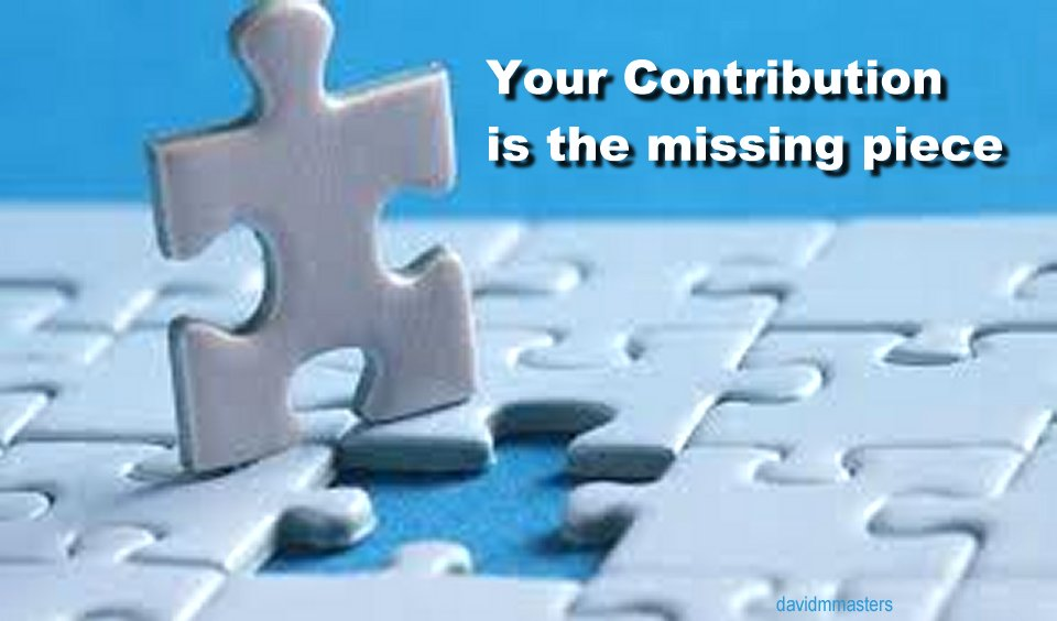 Your Contribution is the missing piece