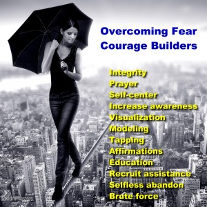 overcoming fear courage builders prayer visualization modeling tapping affirmations