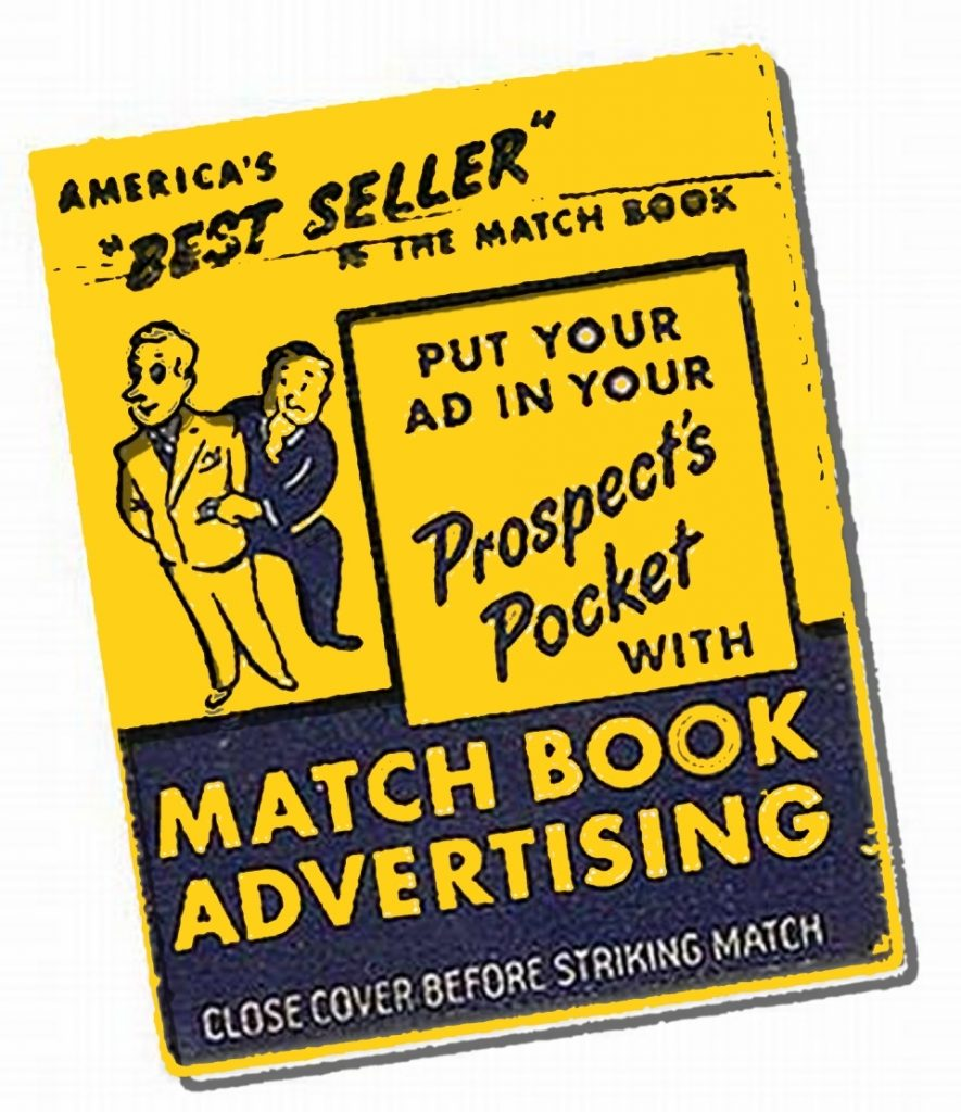 match book advertsing tiny ads matches