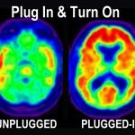 plug in turn on brain chemistry increased concentration creativity unplugged plugged in brain scans the zone