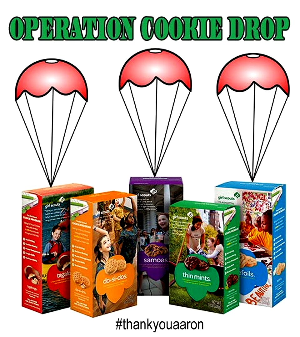 operation cookie drop girl scouts cookies jaycie wakefield thankyouaaron