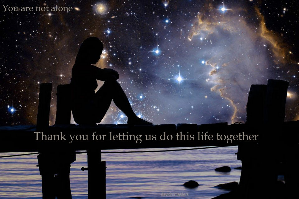 Thank you for letting us do this life together you are not alone