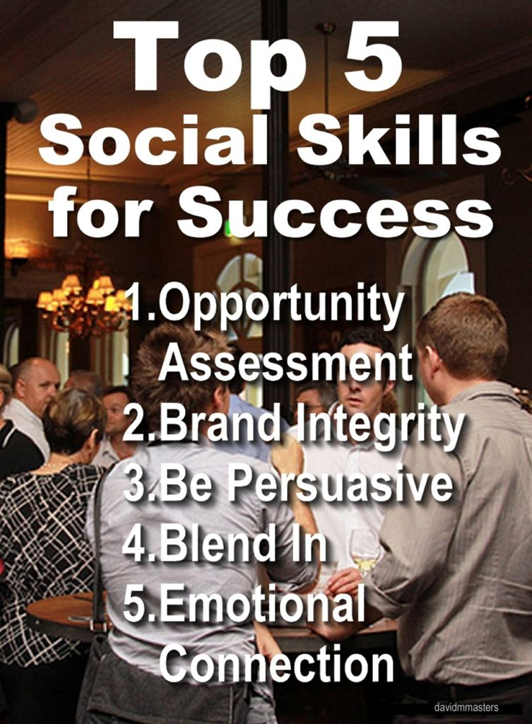 Top 5 Social Skills for Success opportunity assessment brand integrity persuasion blend in emotional connection